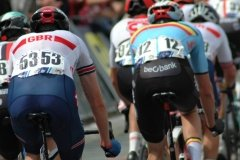 Luke Rowe at the back of the peloton