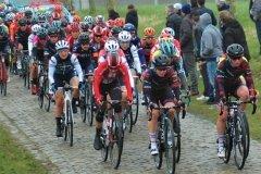 Alice Barnes leading the peloton